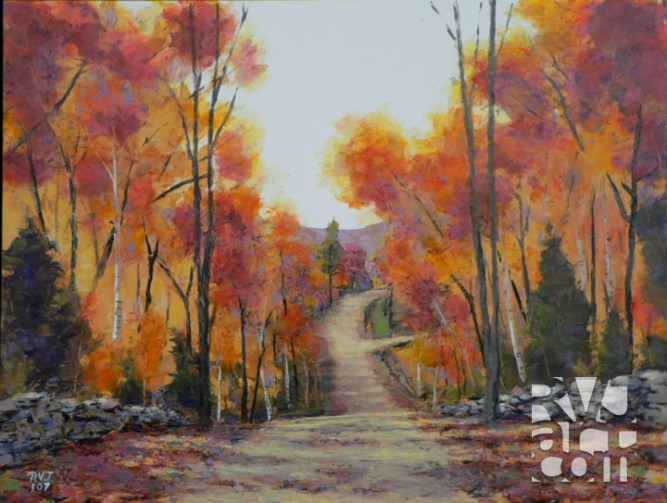 The Road Home, oil painting by Roger Vincent Jasaitis, copyright 2007, RVJart.com