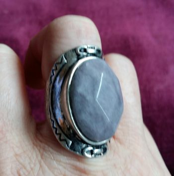 New Look lilac stone ring