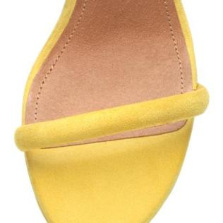 Yellow H&M suede heels 2