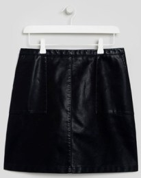 black-faux-leather-mini-skirt