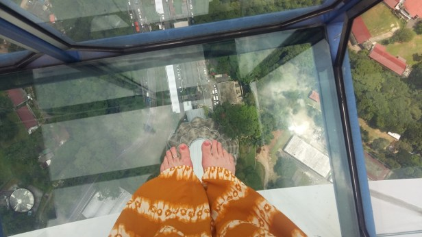 Glass floor of the Sky Box