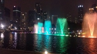 KLCC park fountains light show 10