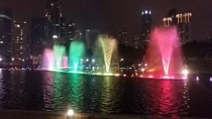 KLCC park fountains light show 12