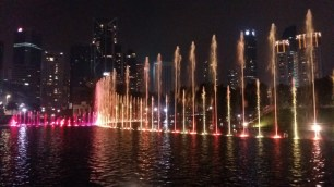 KLCC park fountains light show 3