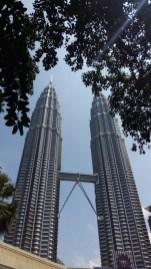 Looking up at Petronas Towers