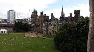 Cardiff Castle apartments and stadium