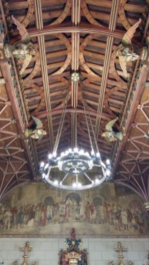 Cardiff Castle apartments wooden ceiling