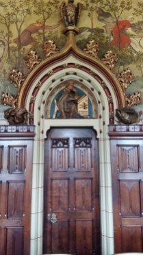 Cardiff Castle apartments wooden doorway