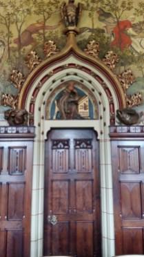 Cardiff Castle apartments wooden doorway