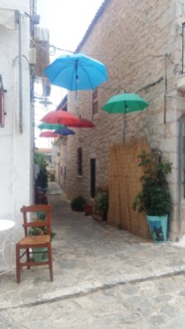 Areopoli umbrella alleyway