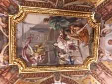 Gold framed painted ceiling Vatican Museums