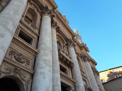 Looking up at St Peters Basilica