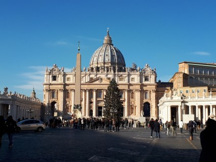 St Peters Basilica at Christmas