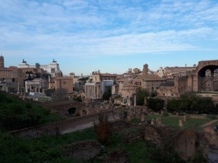 Looking down on Roman Forum