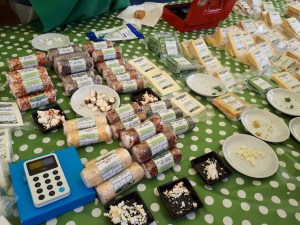 Moseley Farmers Market cheese stall