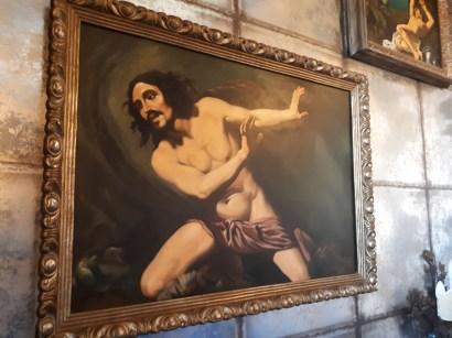 Bedroom artwork at Antica Dimora del Cinque Lune Rome
