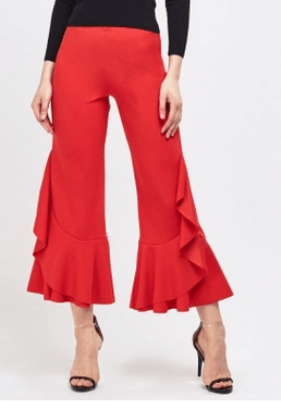 Everything 5 Pounds red flared trousers