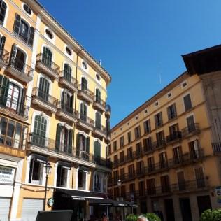 Palma pastel buildings