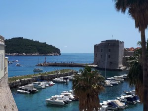 Dubrovnik harbour view from Ploce Gate