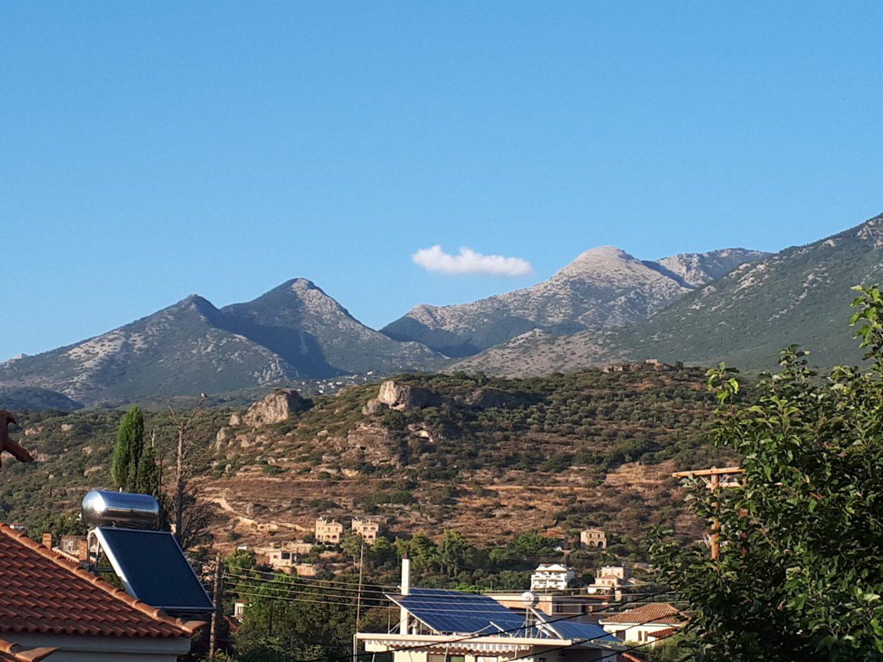 Teygetos Mountains From Stoupa