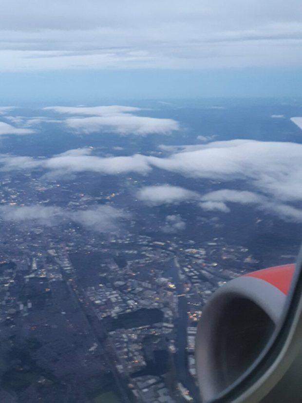 Flight to Bergen over Manchester