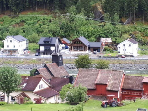 View of Gudvangen from Flam Railway