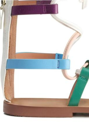 H&M multi coloured roman sandals 3