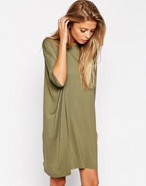 ASOS khaki t-shirt dress