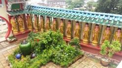 Kek Lok Si temple courtyard buddhas
