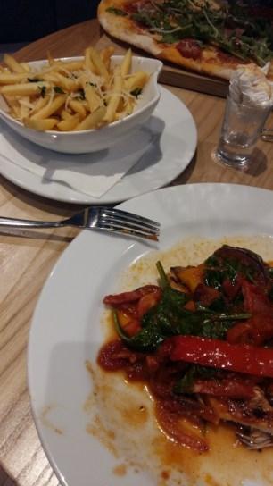 Prezzo Chicken Calabrese and truffle fries