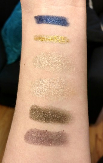 New Year's Eve sparkle swatches