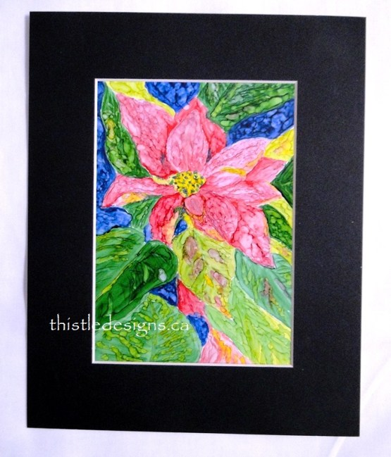Alcohol Ink Holiday Workshop Poinsettia