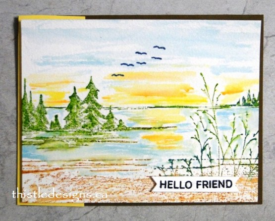 A Different Look With Quietude Stamp