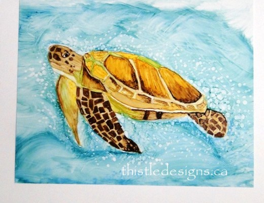 Alcohol Ink Turtle