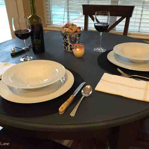 Table setting for two
