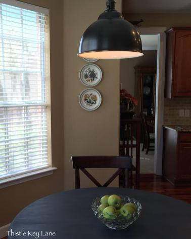 New pendent over breakfast table