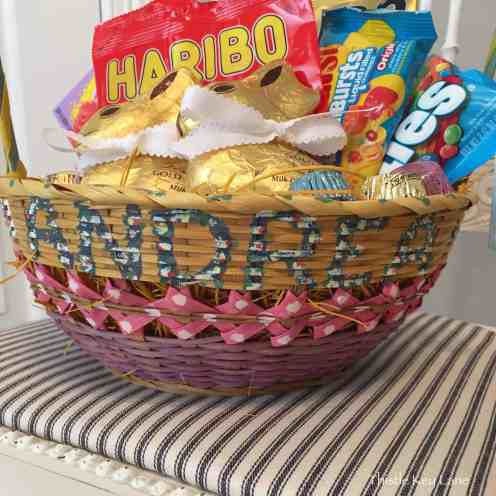 Hand painted Easter basket