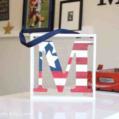 Red, White and Blue Letter