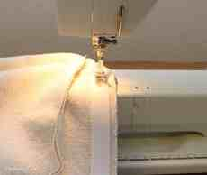 Velcro sewn into the back side of the cushion to close the envelope