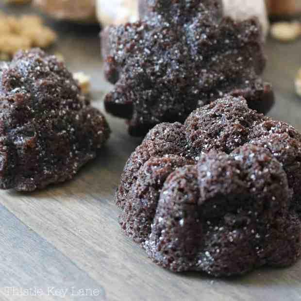 Brownie bites using the Nordic Wear pan.