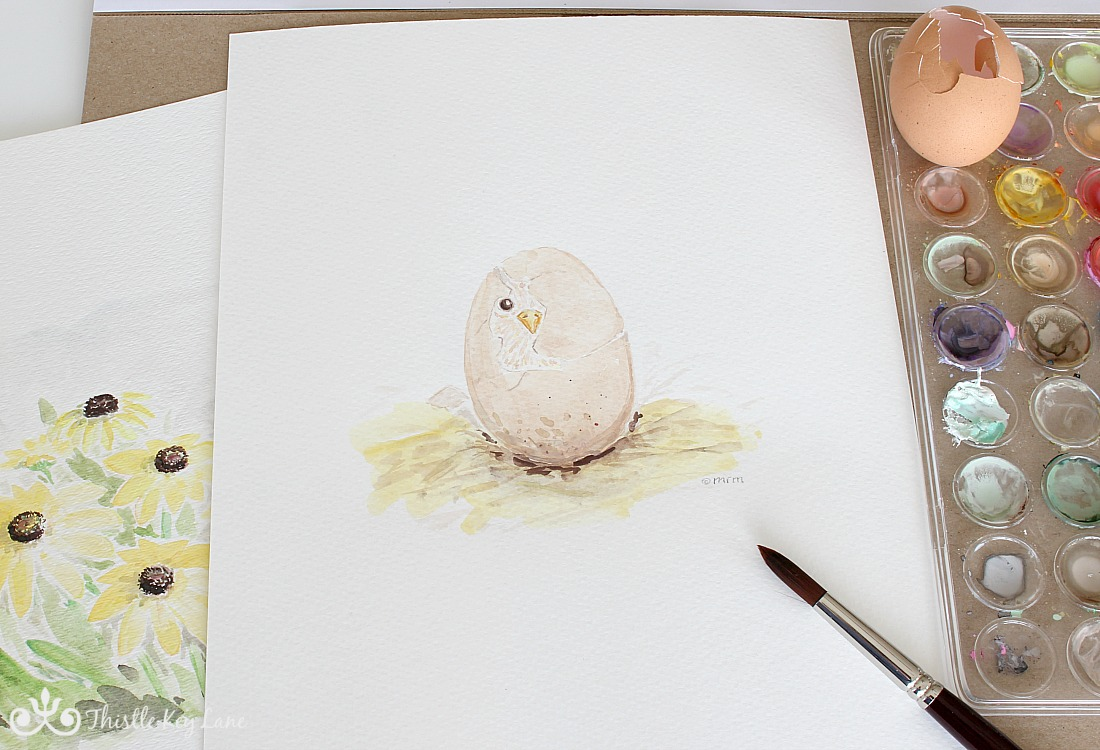 Spring Watercolors and Free Printables