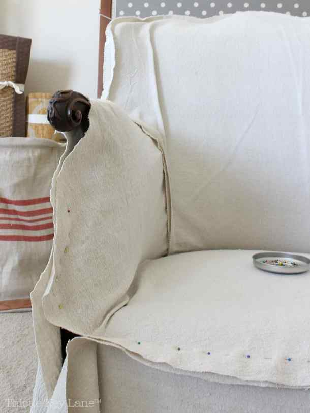 Drop Cloth Armchair Slipcover step by step.