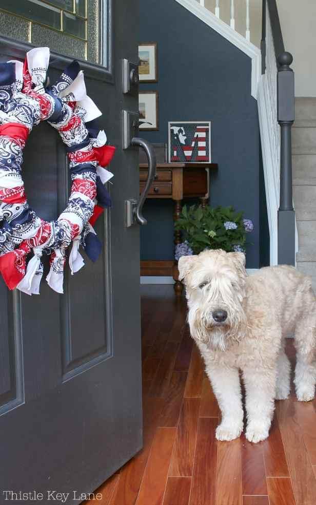Red, White And Blue Bandana Wreath