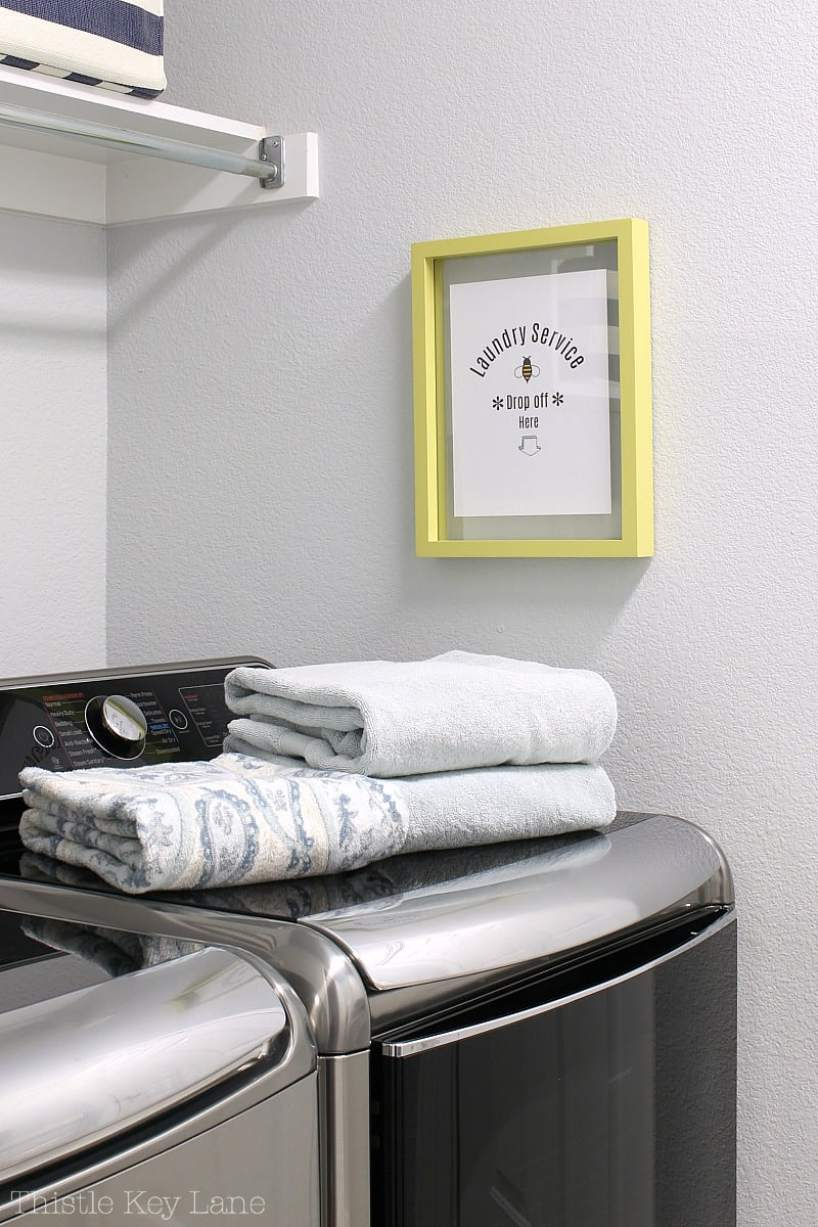 Laundry Room Refresh And A Free Printable