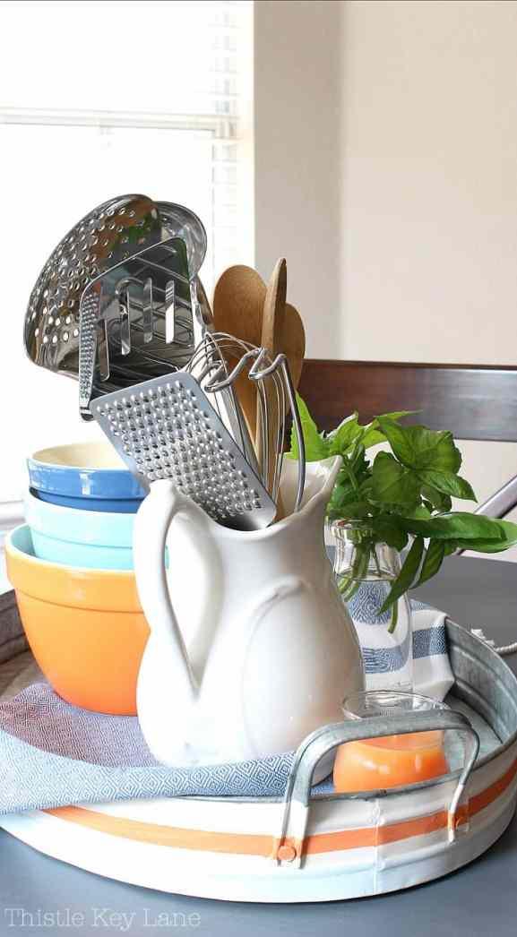 Fun Ways To Create A Kitchen Vignette