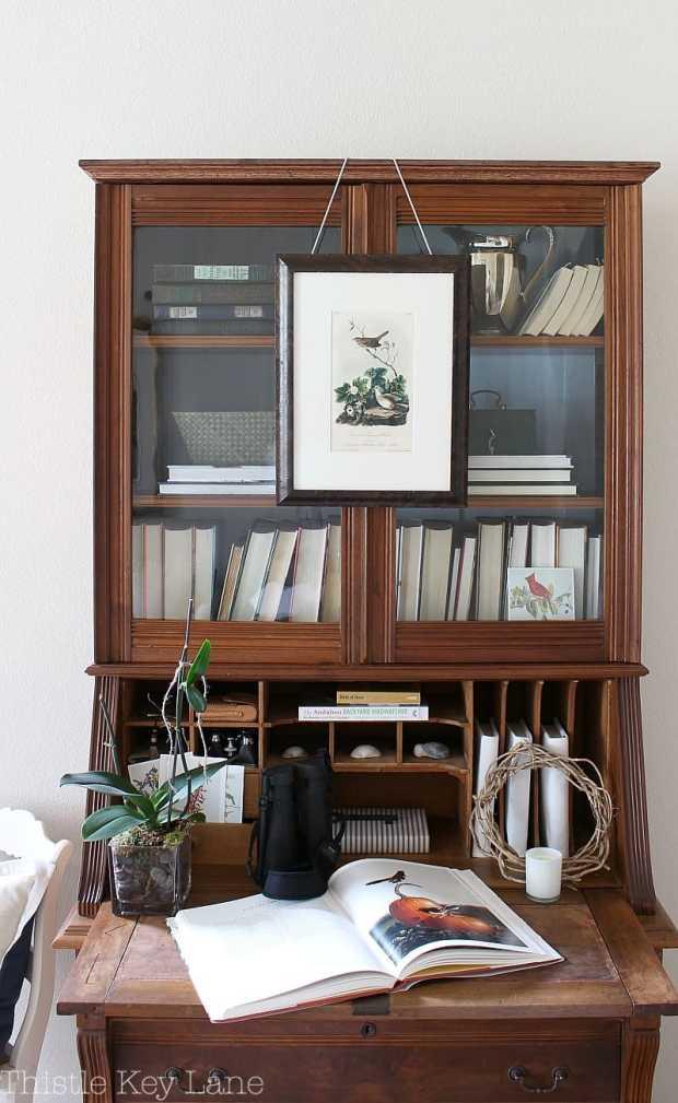 Audubon inspired styled secretary.