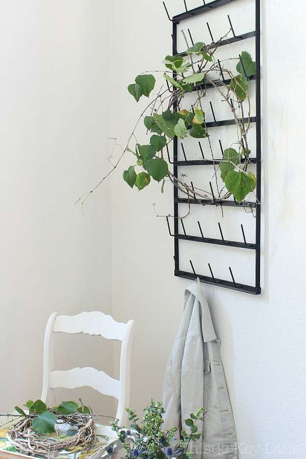 Using a cup rack in the entry.
