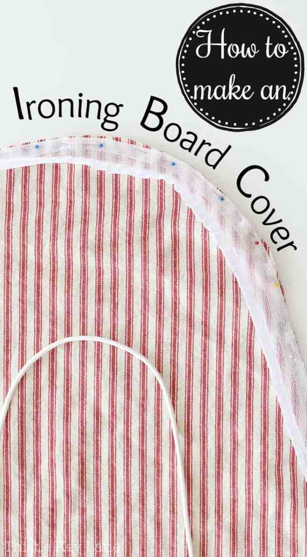 How to ideas on making an ironing board cover.