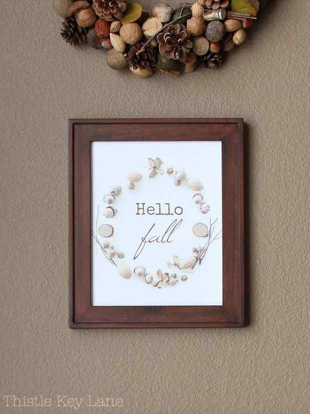 Framed fall print.