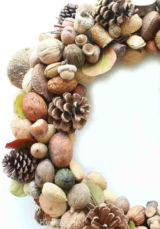 Love these colors for a fall wreath.